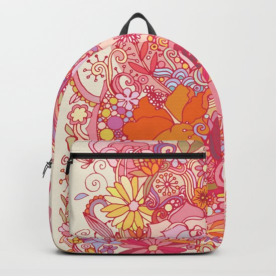 Detailed summer floral pattern Backpack