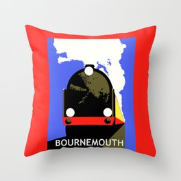 Bournemouth Belle Throw Pillow