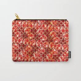 Seamless wire fence golden and red cherries pattern Carry-All Pouch
