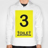 toilet Hoodies featuring TOILET CLUB #3 by Toilet Club