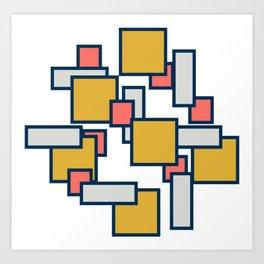 Rectangular - Outline Art Print