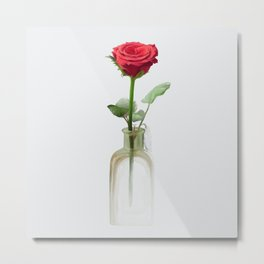 Smell the Rose Metal Print