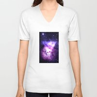 outer space V-neck T-shirts featuring Outer Space by Erick Navarro