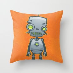 Silly Robot Throw Pillow