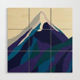 Mount Everest in Blue Wood Wall Art