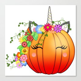 Unicorn Pumpkin Canvas Print