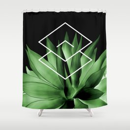 Agave geometrics III Shower Curtain