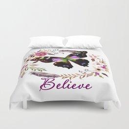 Believe butterfly Duvet Cover