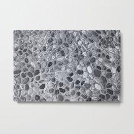 Pebble Rock Flooring I Metal Print