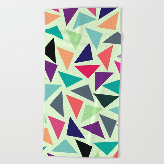 Geometric Pattern Beach Towel