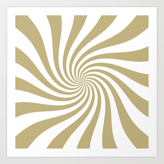 Swirl (Sand/White) Art Print