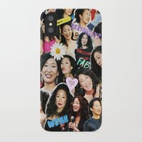 sandra dieckmann iPhone & iPod Cases featuring Sandra Oh by drmedusagrey