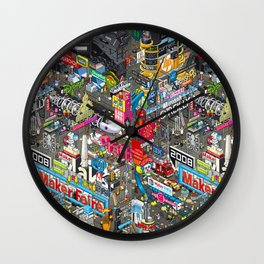 Collage tech Wall Clock