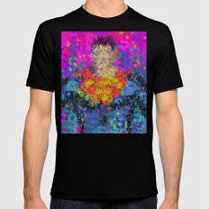 Super Type Man - Abstract Pop Art Comic Black Mens Fitted Tee MEDIUM