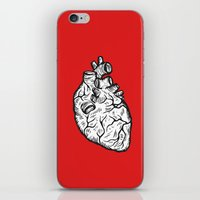 anatomical heart iPhone & iPod Skins featuring Anatomical Heart by Horse and Hare