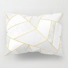 White Stone Pillow Sham