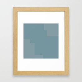 Pastel blue pattern Framed Art Print
