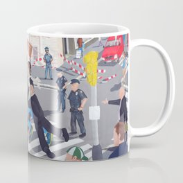 The colourful Assassination of Donald Trump in New York City Coffee Mug