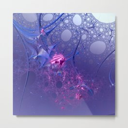 Under the sea - Abstract magic with fractals Metal Print