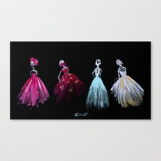 The Gathering Fashion Illustration Canvas Print