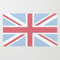 union jack Area & Throw Rugs featuring Union Jack by Alesia D