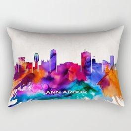 Ann Arbor Skyline Rectangular Pillow