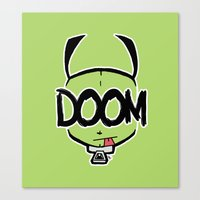 doom Canvas Prints featuring DOOM by Oddworld Art