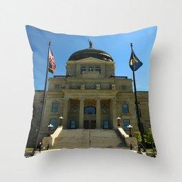 Montana State Capitol Throw Pillow