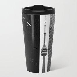 CN Tower Between Buildings Travel Mug