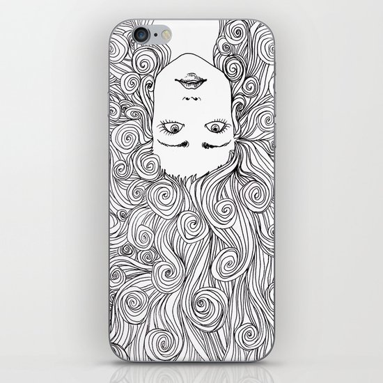 Long Hair Don't Care iPhone & iPod Skin