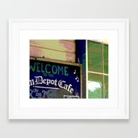 cafe Framed Art Prints featuring Cafe by Glenn Designs
