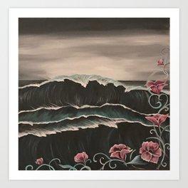 Crashing Winter Waves Art Print