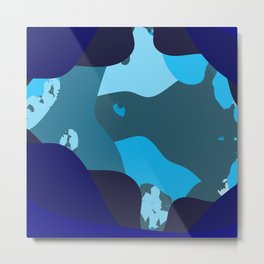Abstract blues Metal Print