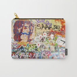 Peace on Earth - Love - Because the World is Round it Turns me On Carry-All Pouch