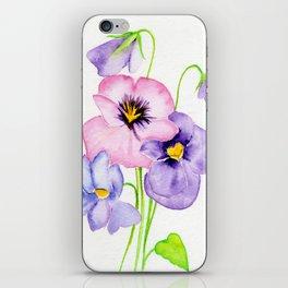 Pretty Pansies iPhone Skin