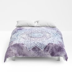 DEEP PURPLE MANDALA Comforters
