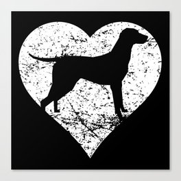 Distressed Vizsla Heart Dog Owner Graphic Canvas Print