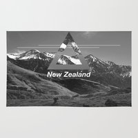 new zealand Area & Throw Rugs featuring New Zealand by ztwede