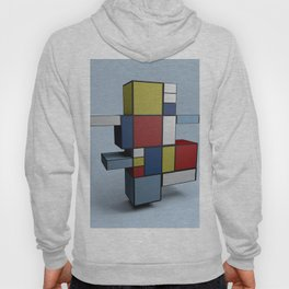 Composition with Red Blue and Yellow Hoody