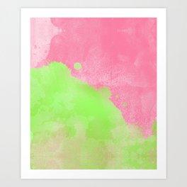Pinkgreen SplashUp Art Print