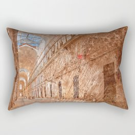 Battered Prison Corridor Rectangular Pillow