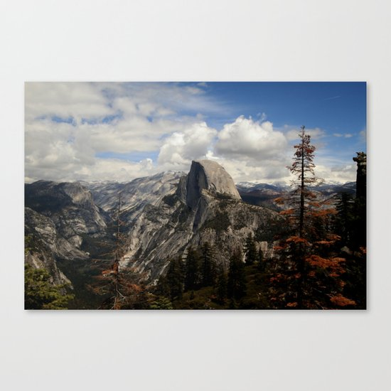 up in the mountains Canvas Print
