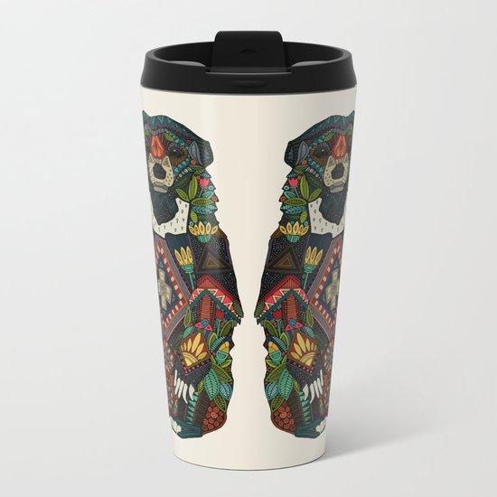 sun bear almond Metal Travel Mug