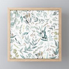 Eucalyptus pattern Framed Mini Art Print