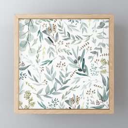 Eucalyptus pattern Framed Mini Art Print