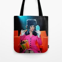 theatre Tote Bags featuring Theatre Lady by Wanker & Wanker