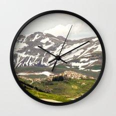 Italian mountain landscape Wall Clock