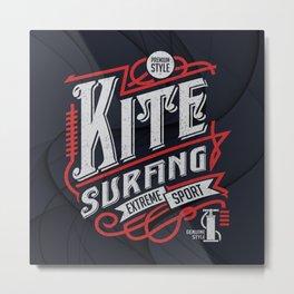 Kite Surfing Extreme Sport Metal Print