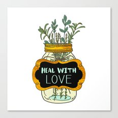 Heal With Love Canvas Print