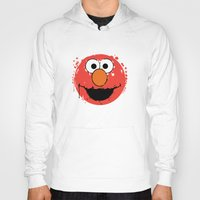 elmo Hoodies featuring Elmo splatt by Firepower